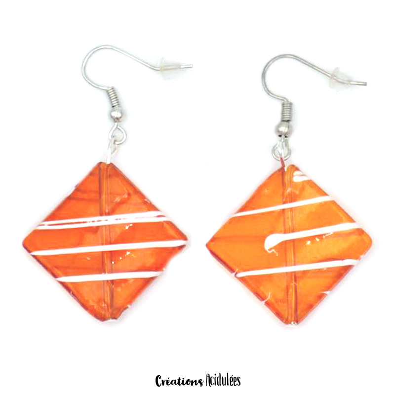 Boucles d'oreilles - EDITION LIMITEE (ORANGE)