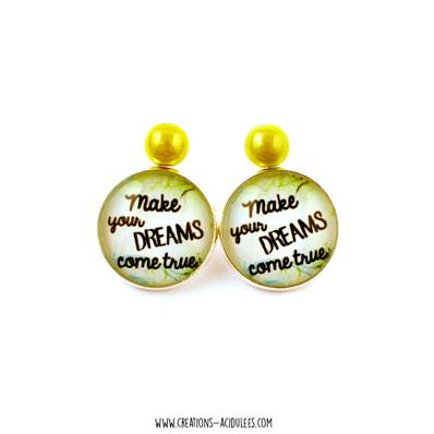 Boucles d'oreilles - dormeuses - Make your DREAMS come true