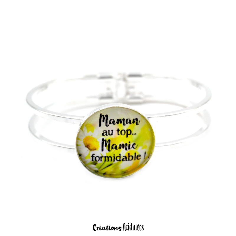 Bracelet - Maman au top, Mamie formidable