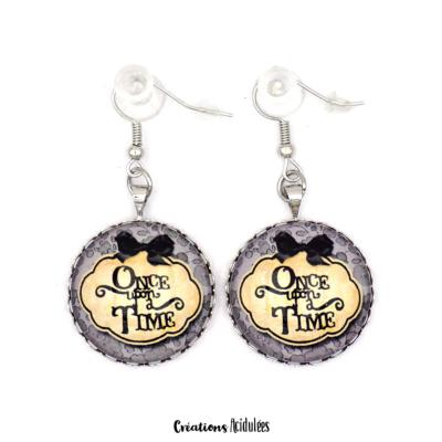Boucles d'oreilles - Once upon a time (gris)