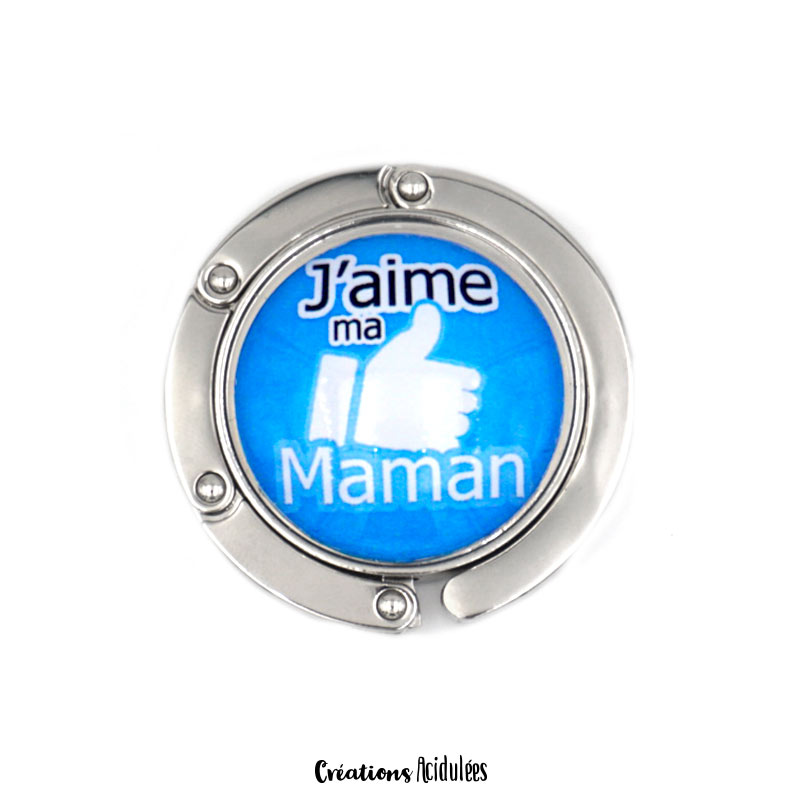 Accroche-sac - J'aime ma Maman (Like Facebook)