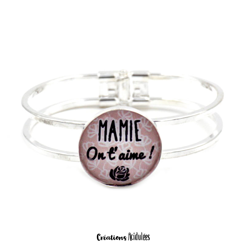 Bracelet - Mamie on t'aime (marron)