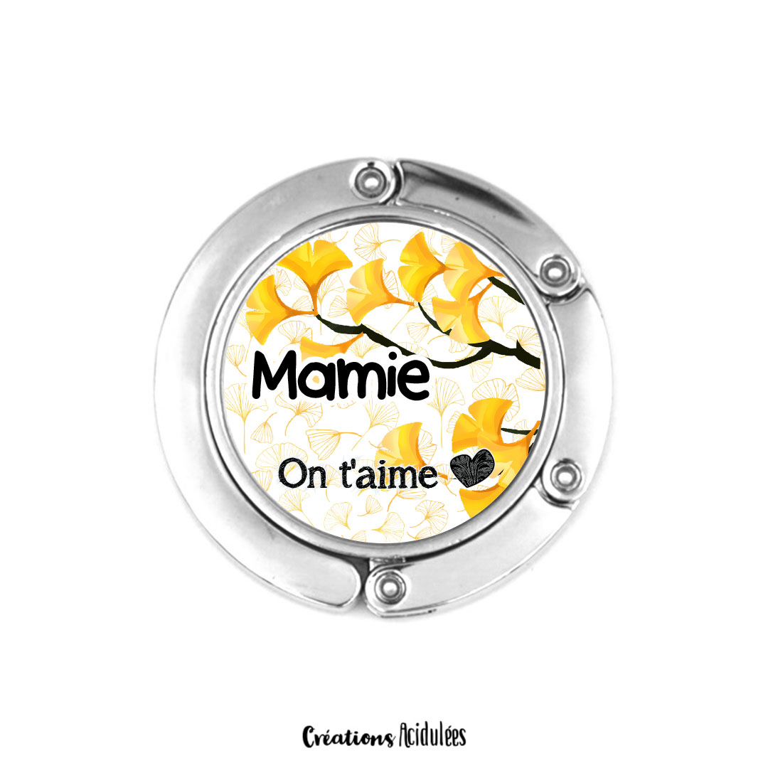 Accroche-sac - Mamie on t'aime (jaune)