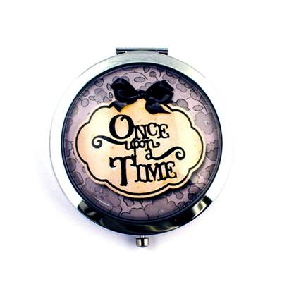 Miroir - cabochon - Once upon a time GRIS