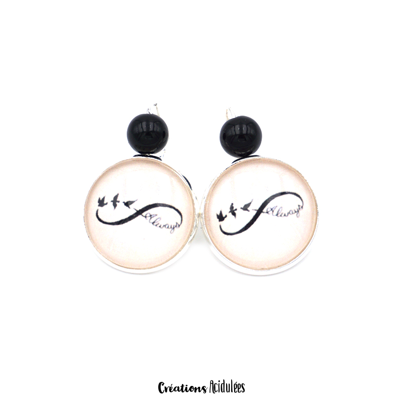 Boucles d'oreilles - dormeuses - Always and forever