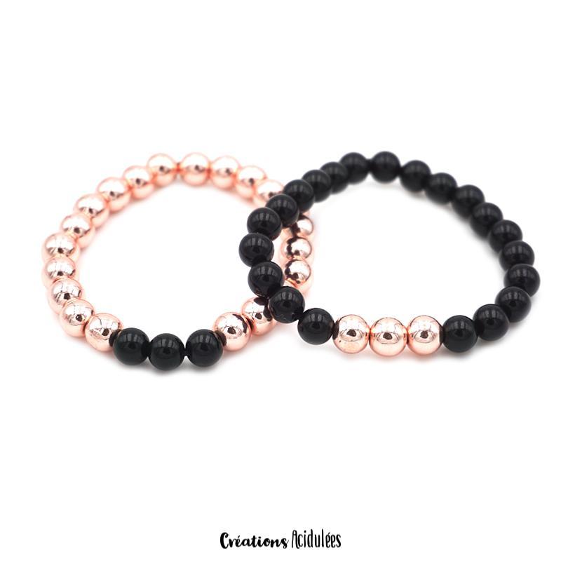 bracelet couple perles