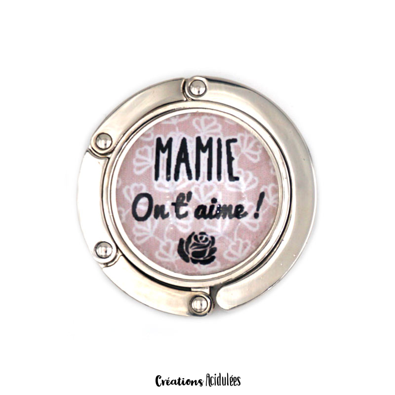 Accroche-sac - Mamie on t'aime (marron)