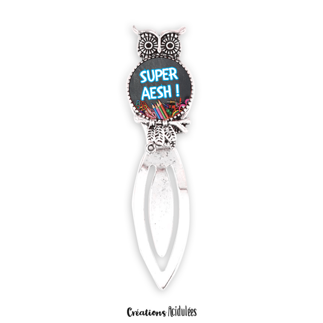 Marque page - hibou - Super AESH